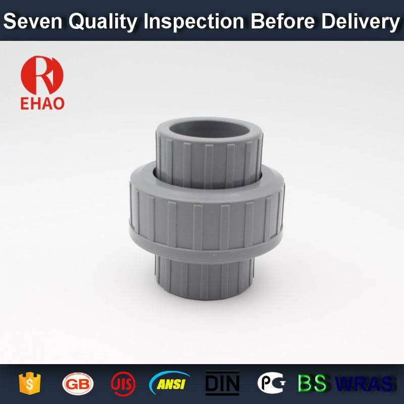 9 Years Factory Upvc pipe fitting union connector of water pipe with good quality Factory from Congo