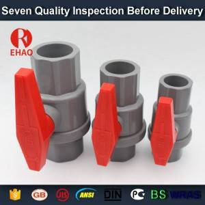 "1-1/2"" (50mm)  plastic PVC pvc 2-piece ball valve ABS hadle socket slip x slip solvent, thread x thread assembly"