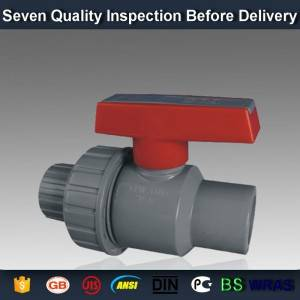 "1/2"" Customized classical glue socket /thread + FPT thread  PVC single union ball valve"