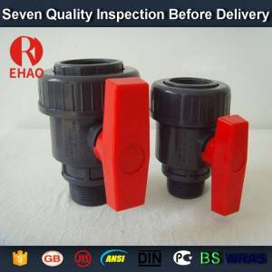 "2-1/2"" socket /thread + sokect  PVC single union ball valve, solvent end"