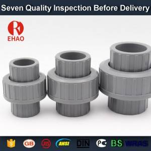 Upvc pipe fitting union connector of water pipe with good quality