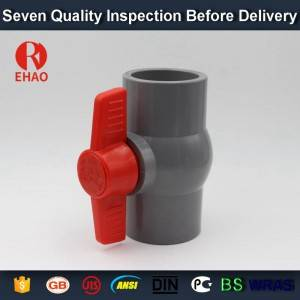 "1/2""(20mm)  PVC round compact ball valve solvent socket"