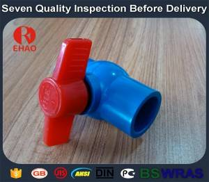 "1-1/4""(40mm)  PVC round compact ball valve solvent socket, glue end, manufacture"