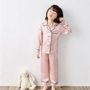 Children's Spring And Autumn Long Silk Pajamas Suit EIT-065
