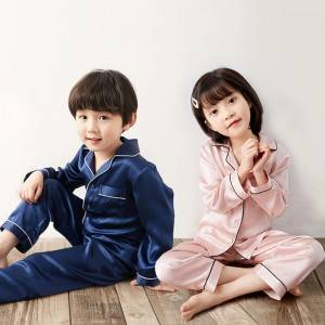 Children's Spring And Autumn Long Silk Pa...