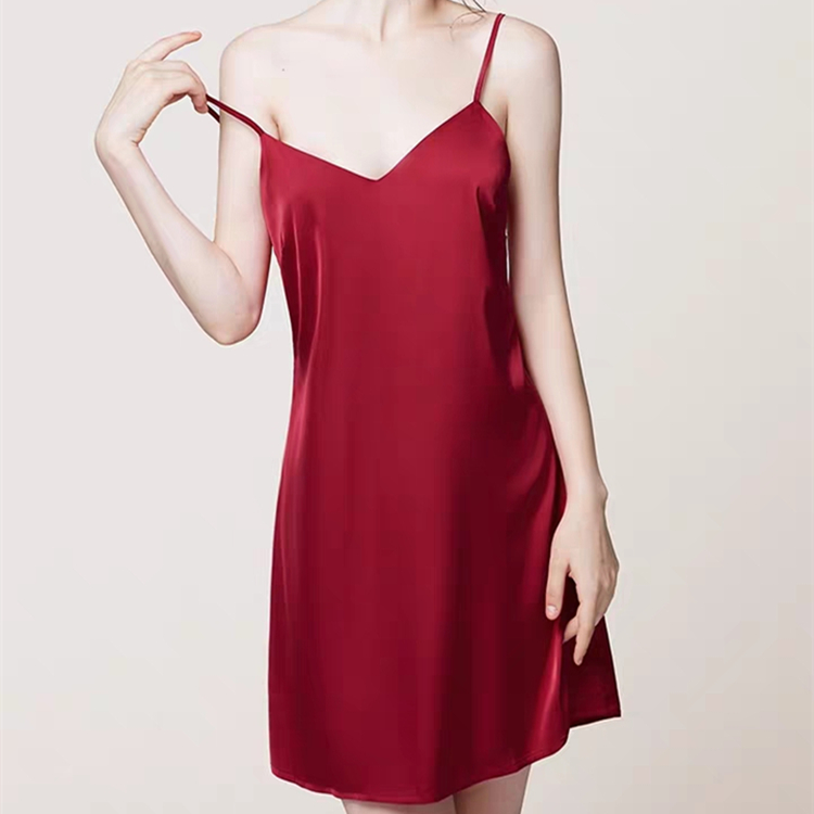One-Piece Silk Pajamas for Women EIT-020 Featured Image