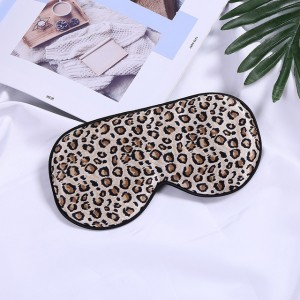 Leopard Print 16 Momme Silk Eye Mask