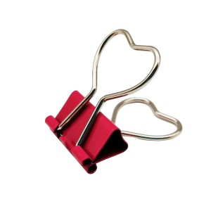 Special heat shaped 19mm paper binder clips