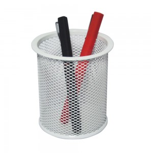 Office desktop metal mesh pen holder