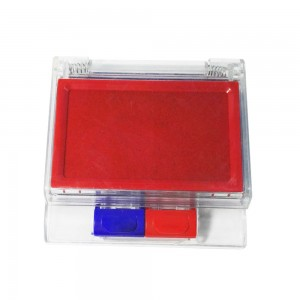 Office desktop blue and red double layers stamp ink pad