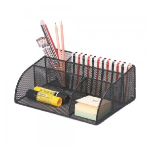 Office table metal mesh desk organizer
