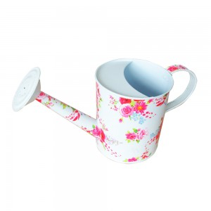 Floral printed garden watering can