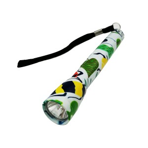 Portable gift printed flashlight 9 LED torch