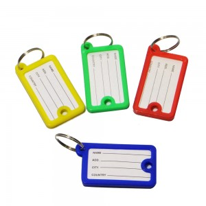 Cheap colorful plastic blank key tags