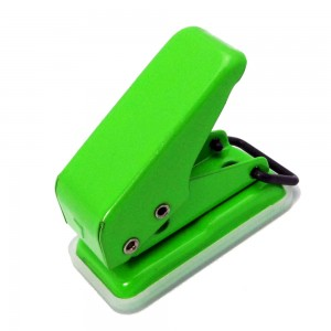 Portable mini size 8 sheets single hole paper punch