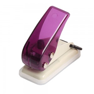 Portable mini plastic 8 sheets single hole paper punch
