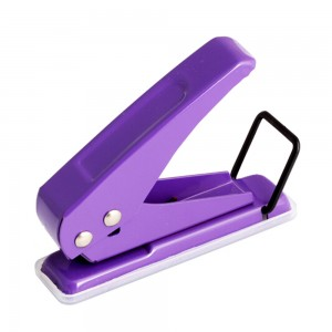 Portable metal 12sheets one hole paper punch