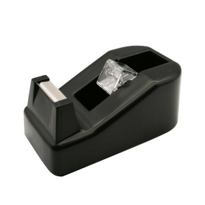 Office desktop klein formaat zwarte tape dispenser