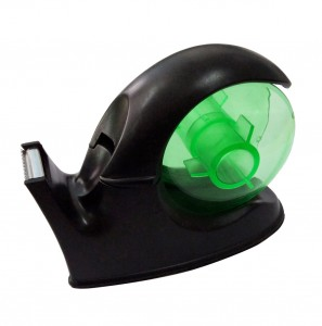 Office desktop snail shaped tape dispenser