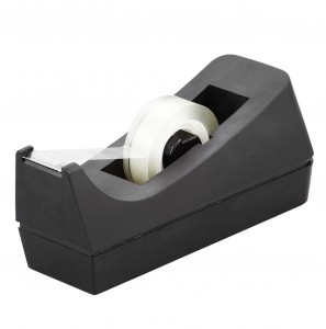Hot sade desktop kantor tape ireng dispenser