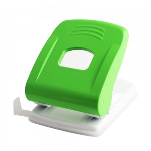 Green plastic 16 sheets 2 holes paper punch
