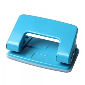 Portable metal 8 sheets 2 holes paper punch