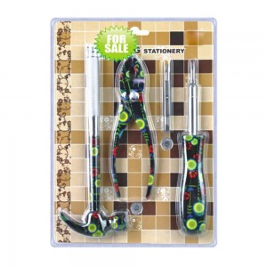 3 pieces fancy printed hand tool set