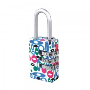 Flower printing 4 digital combination code lock