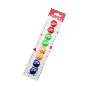 Mini 20mm colorful round whiteboard magnet for office