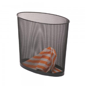 Office oval shaped mesh paper waste basket