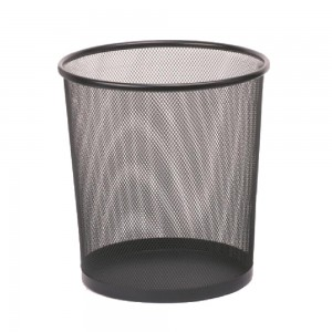 Medium size mesh round paper waste basket