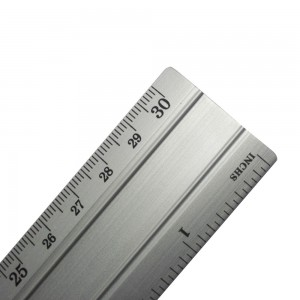 Silver design office 30cm metal ruler