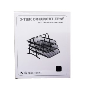 Office desktop 3 tiers mesh documents file tray
