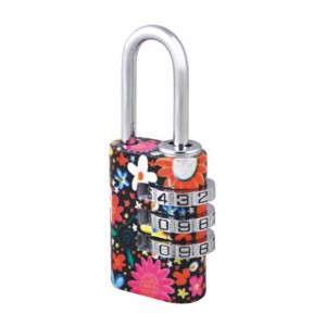Customer's design floral printed 3 digital code lock