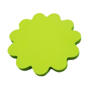 Desktop 50 sheets flower shaped memo sticky notes