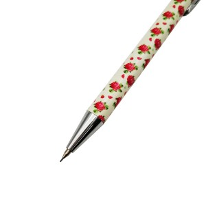 Beautiful floral printed mechanical pencil