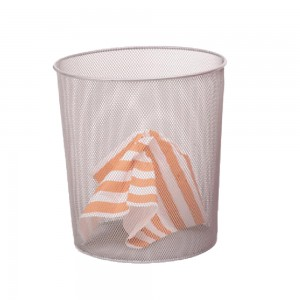 Office wire mesh round paper waste basket