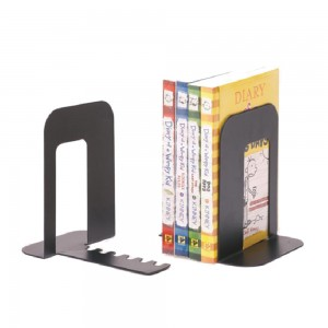 Desktop metal bookend for home and office