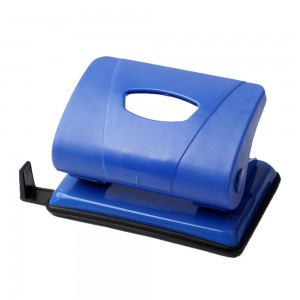 Office blue plastic 12 sheets 2 holes paper punch