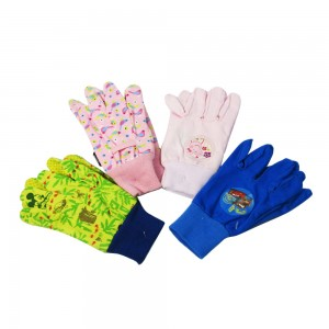 Kids printed design garden gloves