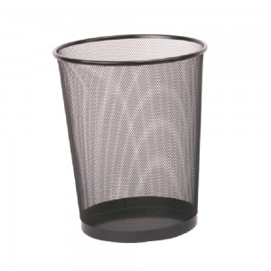 Big size mesh round waste basket for office