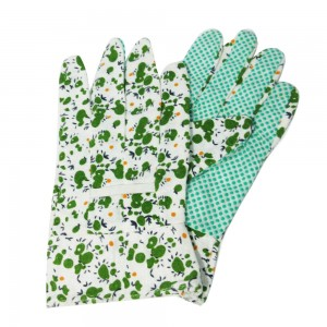 Floral printed garden gloves