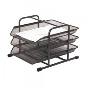 Office desktop 3 layers magazine file tray