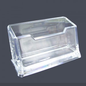 Office desktop transparent business name card holder