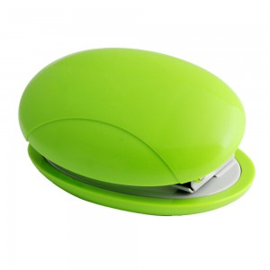 Fancy design plastic round shaped 2 holes paper punch