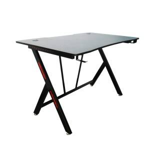 Fashion modern new design black gaming desk computer table