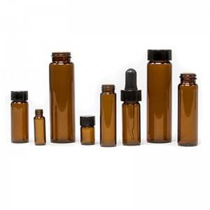 Screw Thread Glass Vials with cap