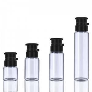 2ml 3ml 5ml 10ml Essence medicine glass vials bottle with embossed cross plastic cap
