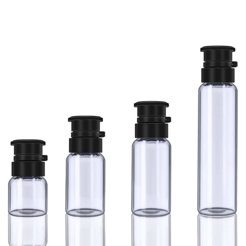 2ml 3ml 5ml 10ml Essence medicine glass vials bottle with embossed cross plastic cap Featured Image