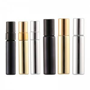 5ml 10ml UV plated surface perfume glass vials in gold color, silver color and black color